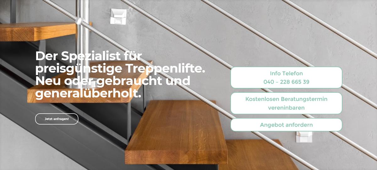 Treppenlift für Hamburg - Second Hand Lifte: Sitzlifte, Plattformlifte, Senkrechtaufzüge, Treppenraupen, Treppensteiger, Deckenlifte