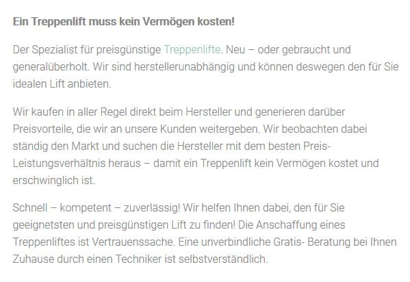 Günstige Treppenlifte für  Hamburg